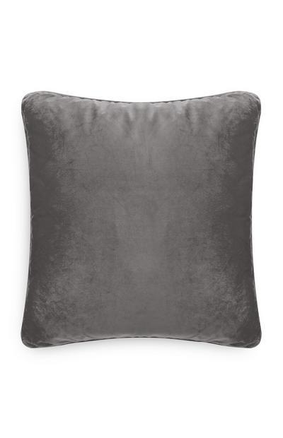 Extra Large Grey Velvet Cushion