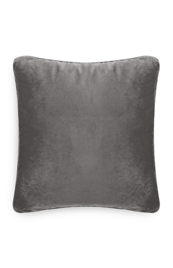 Gray Velvet Cushion