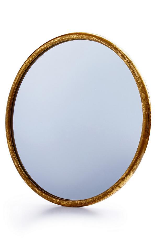 Großer Spiegel mit goldfarbenem Rand