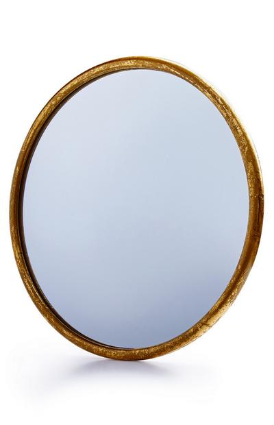 Large Gold Edge Mirror
