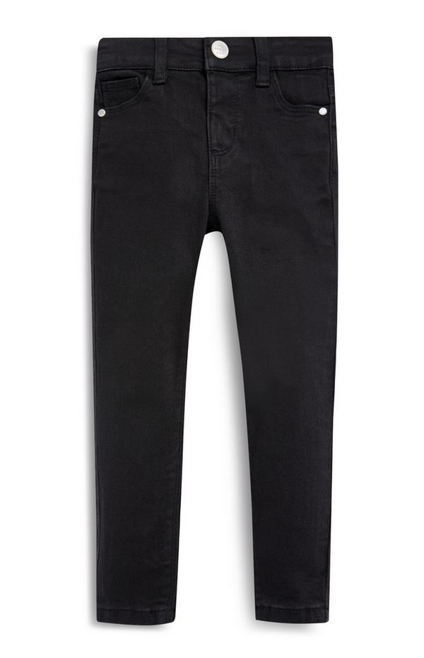 Younger Girls Black Stretch Skinny Jeans