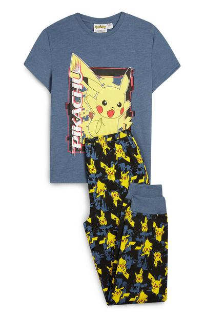 Pijama de 2 piezas azul de Pikachu de Pokémon