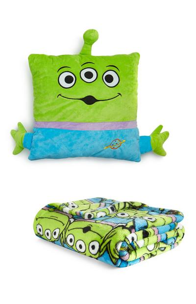 Set cuscino e plaid con alieni Toy Story