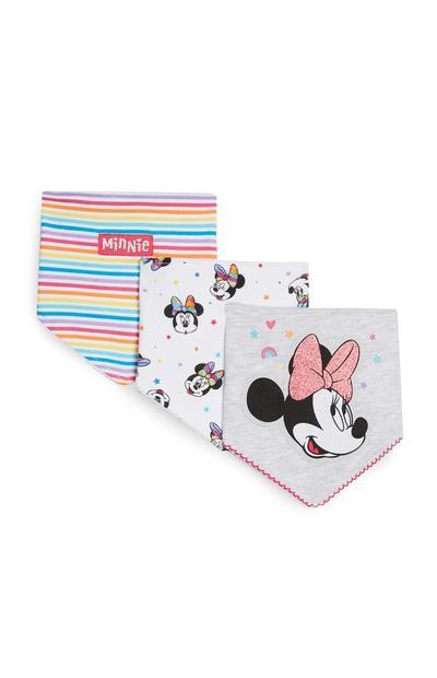 Slabbetjes Minnie Mouse, set van 3