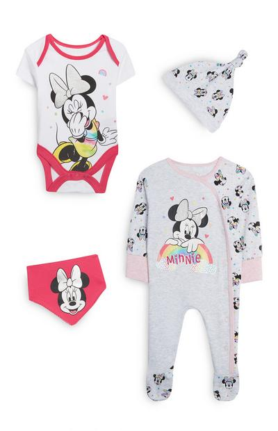 4-Piece Gray And White Minnie Mouse Rainbow Set