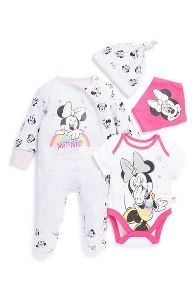 Dekliški komplet za novorojenčke Minnie Mouse