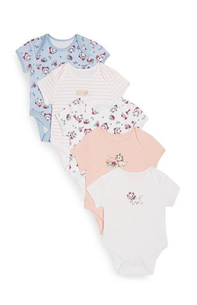 5-Pack Baby Girl Aristocats Marie Onesies