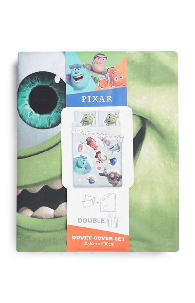 Komplet prevlek za prešito odejo za zakonsko posteljo z liki iz Pixarjevih risank