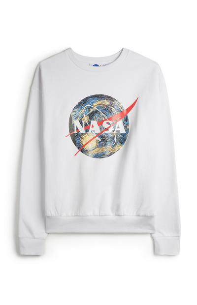 White NASA Globe Jumper