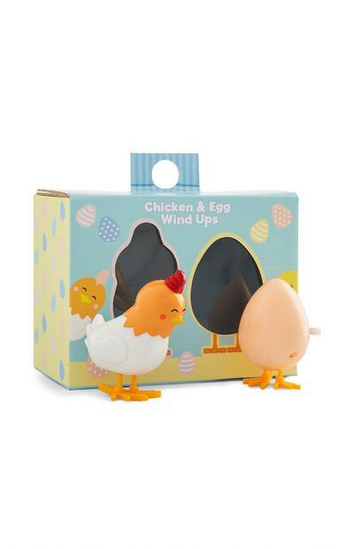 Huhn- und eiförmige Aufziehfiguren
