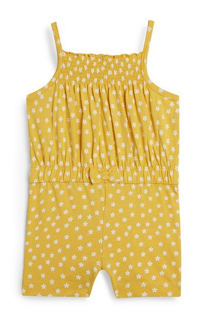 Baby Girl Yellow Floral Strappy Playsuit