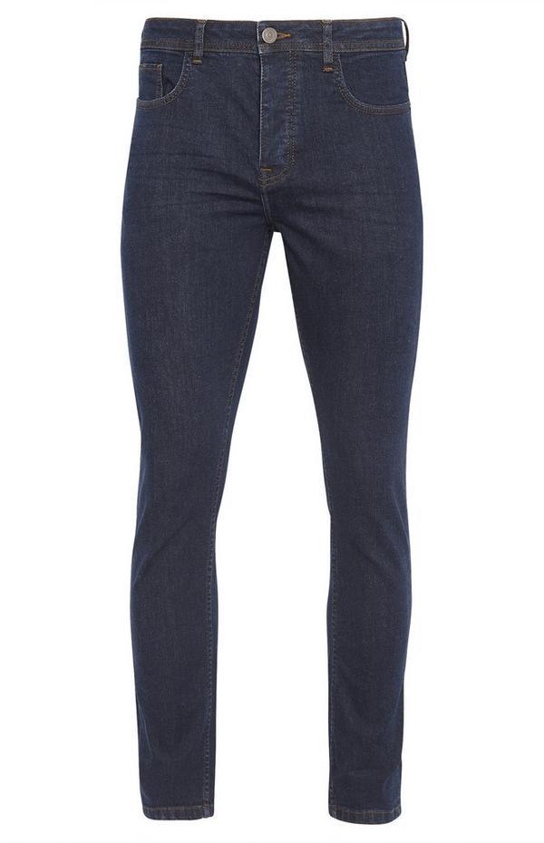 Marineblaue, ausgebleichte Slim-Fit Jeans