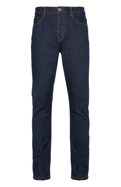 Ausgewaschene Slim-Fit-Jeans mit Stretchanteil in Dunkelblau