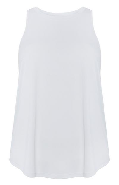 T-shirt larga materiais reciclados branco