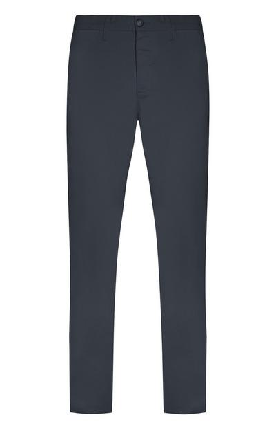 Pantaloni chino blu elasticizzati