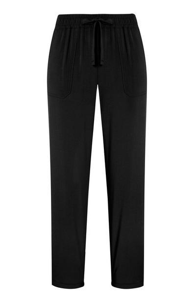 Zwarte paperbag-broek