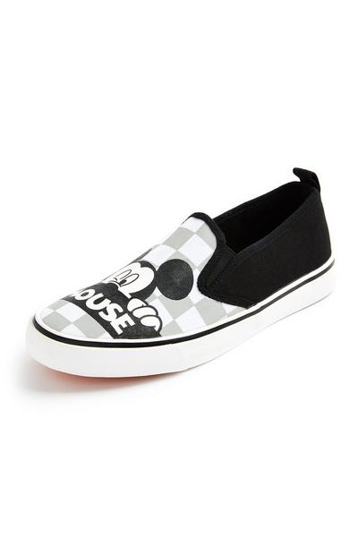 Baskets noires sans lacets Disney Mickey Mouse