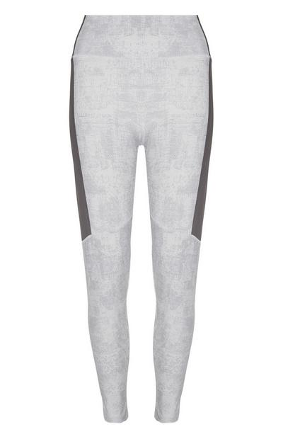 Grey Recycled Polyamide Workout Leggings