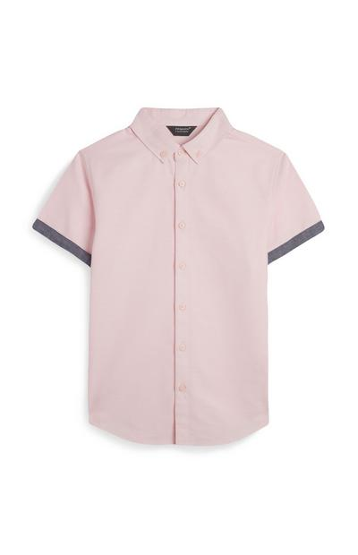 Camisa Oxford rosa para niño mayor