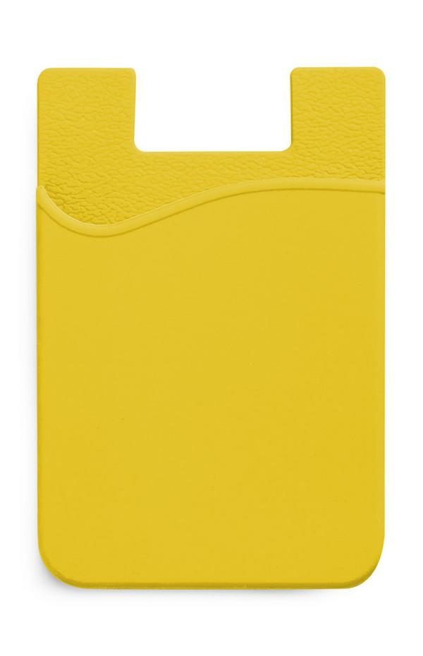 Porta-cartões silicone amarelo
