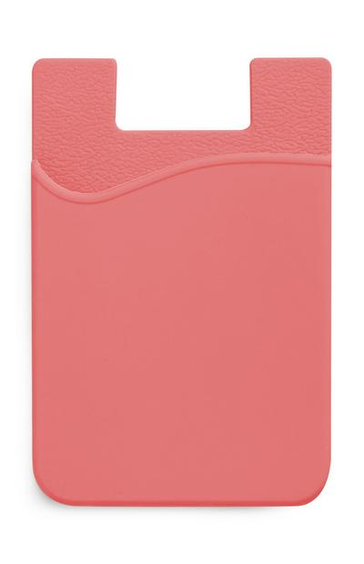 Peach Silicone Card Holder