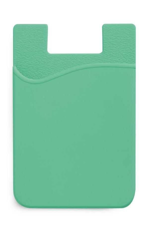 Porta-cartões silicone verde