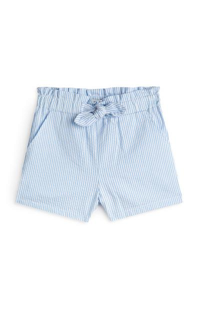 Younger Girl Blue Pinstripe Shorts