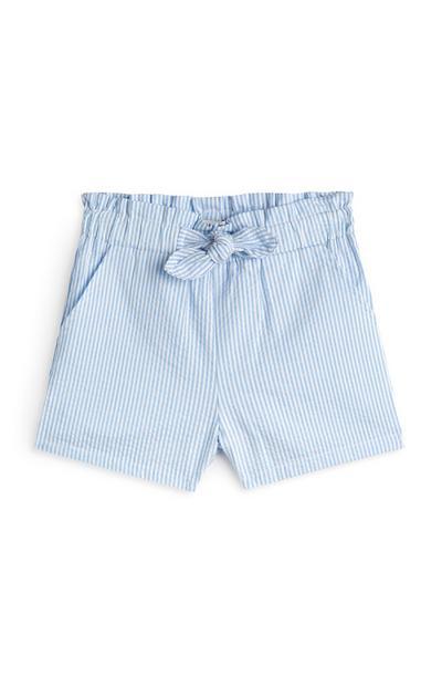 Shorts blu gessati da bambina
