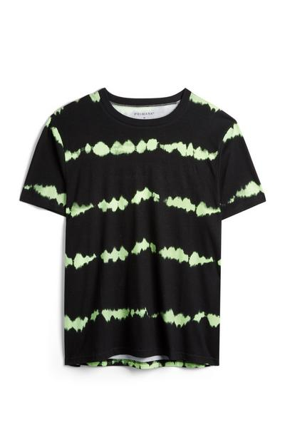 Black And Green Tie Dye T-Shirt