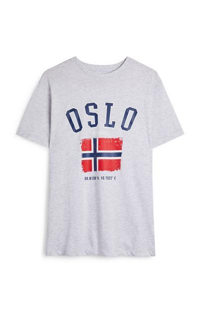 Camiseta gris de manga corta «Oslo»