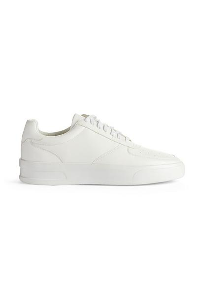 White Casual Low Top Sneakers