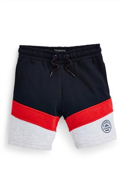 Shorts a blocchi di colore da bambino