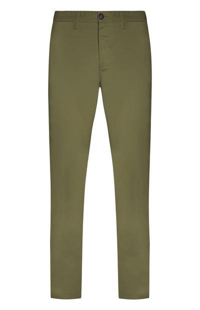 Pantalon chino kaki slim et stretch