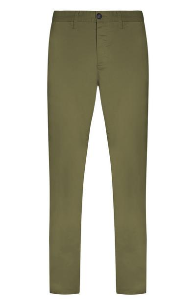 Khaki Stretch Slim Chinos