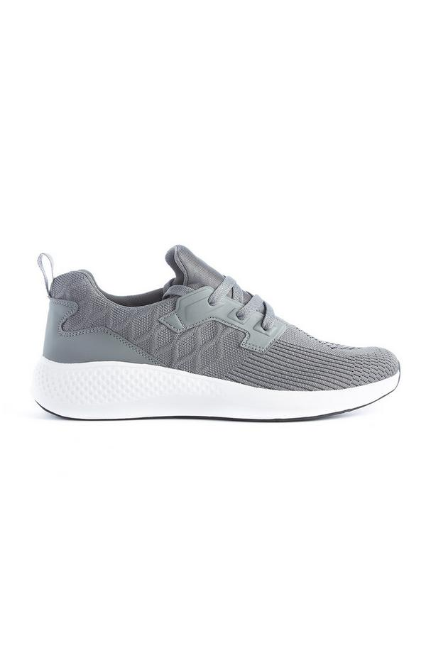 Grey Knitted Trainer