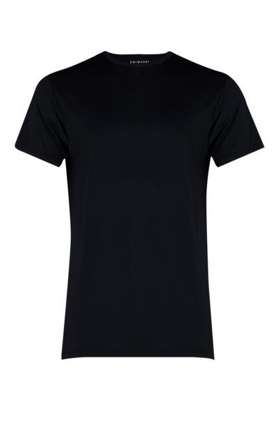 Black Crew Neck Base Layer T-Shirt