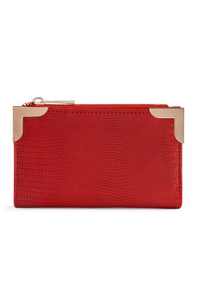 Red Metal Trim Wallet