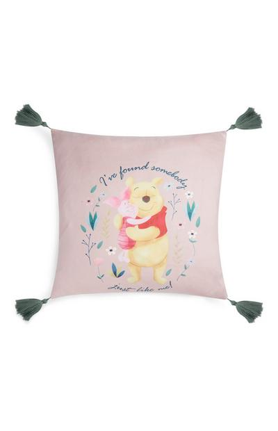 Kvadratna rožnata blazina Medvedek Pu