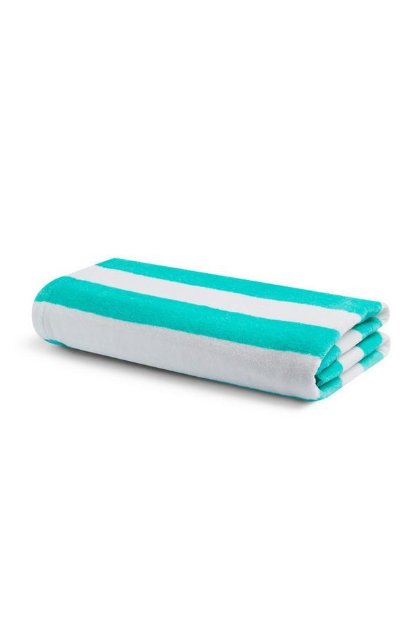 Blau-weiße Strandtasche