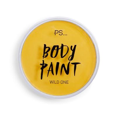 Gele bodypaint
