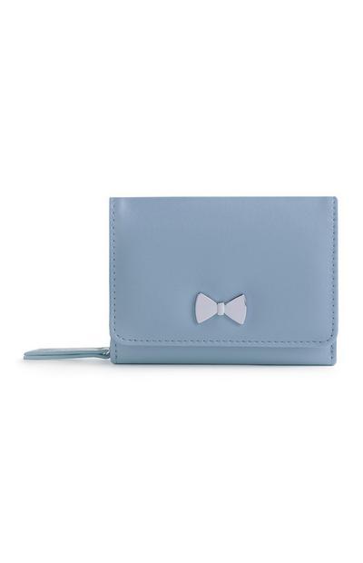 Borsellino blu con fiocco in metallo