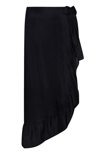 Black Ruffled Sarong