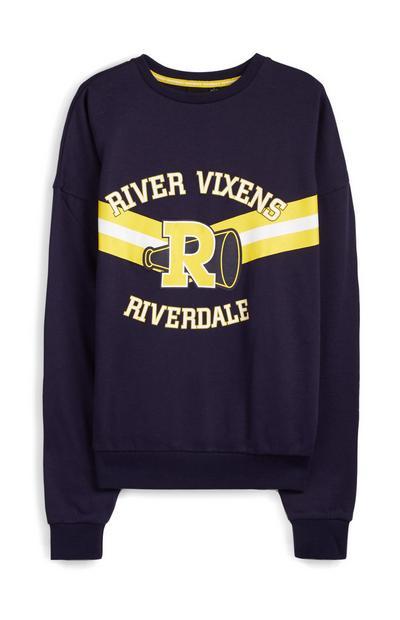 Mornarsko moder pulover Riverdale River Vixens