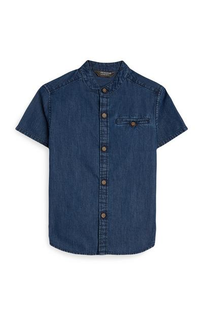 Younger Boy Dark Denim Shirt