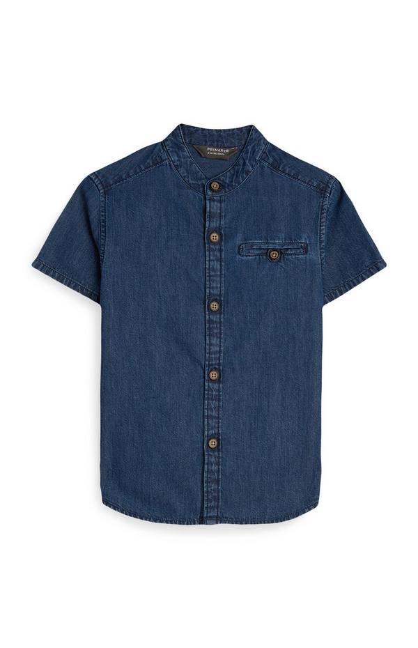 Younger Boy Dark Denim Shirt