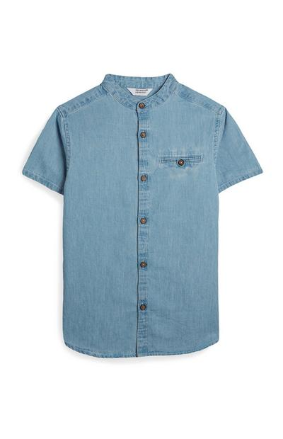 Older Boy Short Sleeve Denim Shirt