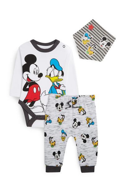 Conjunto de 3 piezas de Mickey Mouse y el pato Donald
