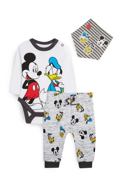 Conjunto 3 peças Mickey Mouse e Pato Donald