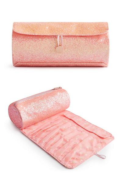 SD Beauty Peachy Roll Up Makeup Bag