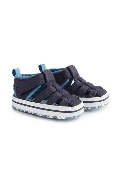 Navy Boys Sandals